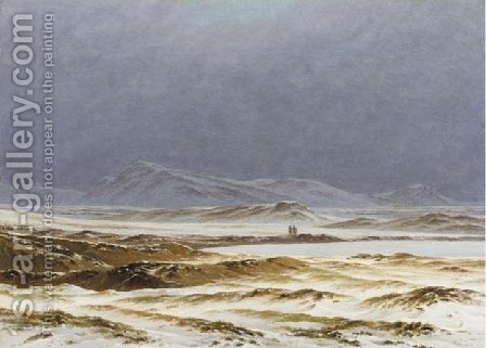 Nordic Landscape, Spring (Eine nordische Fruhlingslandschaft) by Caspar David Friedrich - Reproduction Oil Painting