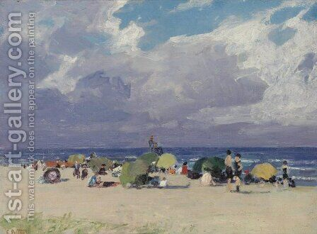 Day at the Beach by Edward Henry Potthast - Reproduction Oil Painting