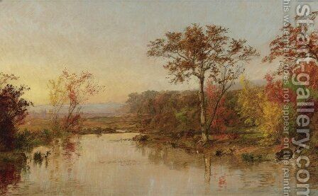 On the Susquehanna 2 by Jasper Francis Cropsey - Reproduction Oil Painting