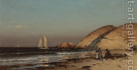 Well Rock, Scituate by Alfred Thompson Bricher - Reproduction Oil Painting
