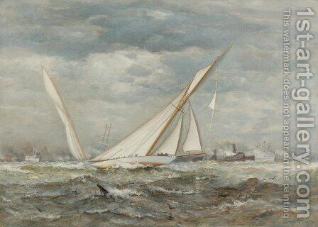 Yacht Race by James Gale Tyler - Reproduction Oil Painting