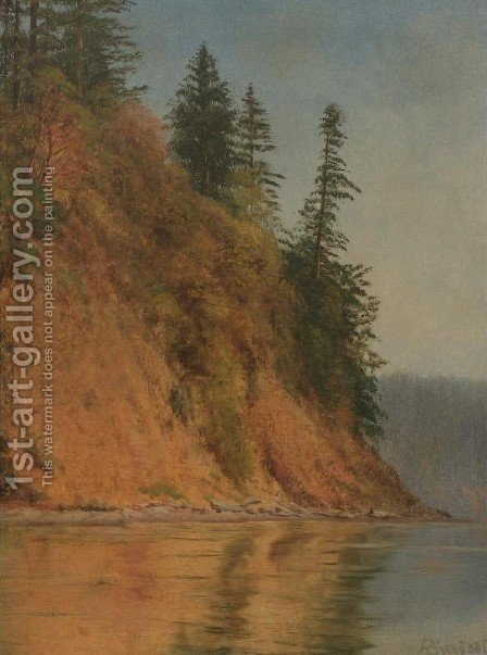 Lake Rosalie, California by Albert Bierstadt - Reproduction Oil Painting
