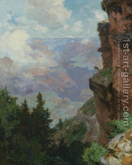 Bright Angel Trail, Grand Canyon by Edward Henry Potthast - Reproduction Oil Painting