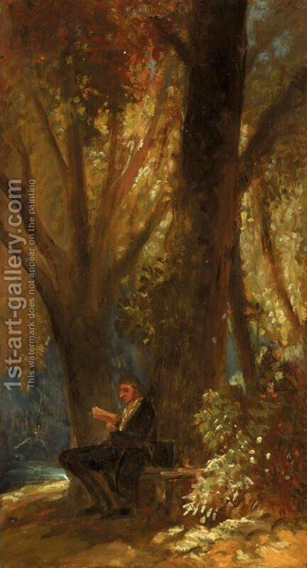 Philosopher in the Wood (Der Philosoph im Walde) by Carl Spitzweg - Reproduction Oil Painting