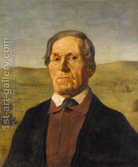 Onkel Ludwig Maier by Hans Thoma - Reproduction Oil Painting