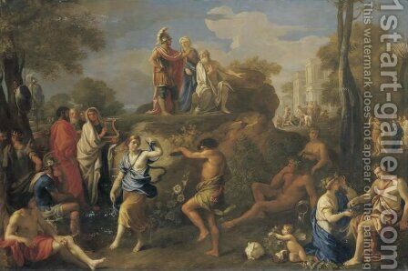 Aeneas and Anchises in Hades by Alexandre Ubeleski - Reproduction Oil Painting