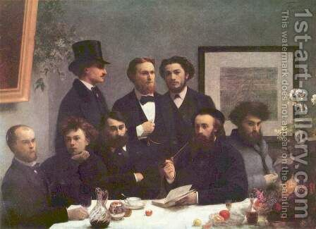 Corner of the Table by Ignace Henri Jean Fantin-Latour - Reproduction Oil Painting