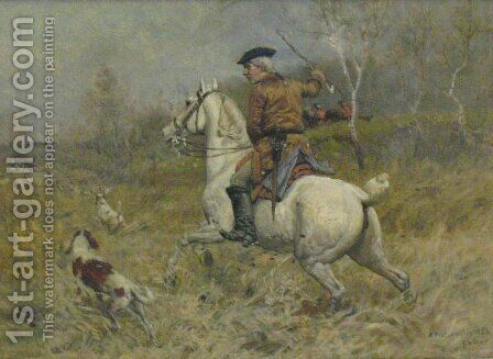 Hunting by Antoni Piotrowski - Reproduction Oil Painting