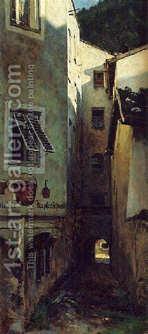 Lane with the Coppersmith (Die Gasse beim Kupferschmied) by Aleksander Gierymski - Reproduction Oil Painting