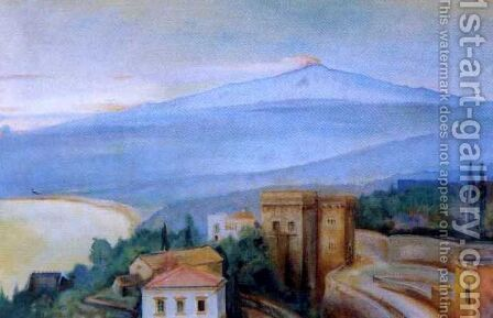Etna by Gustaw Gwozdecki - Reproduction Oil Painting
