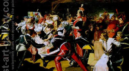 Revelry in the Tavern by Jan Czeslaw Moniuszko - Reproduction Oil Painting
