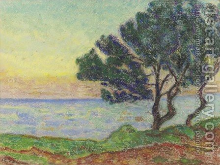 Au bord de la mer by Armand Guillaumin - Reproduction Oil Painting