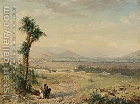 Valley of Mexico by Conrad Wise Chapman - Reproduction Oil Painting