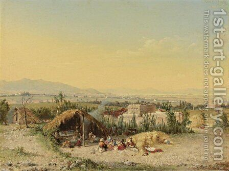 Valley of Mexico I by Conrad Wise Chapman - Reproduction Oil Painting