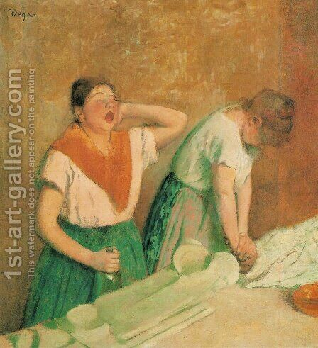 Laundresses by Edgar Degas - Reproduction Oil Painting