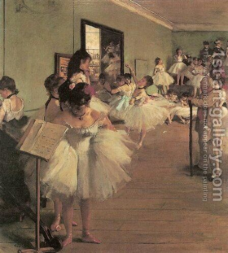 Dance Class I by Edgar Degas - Reproduction Oil Painting
