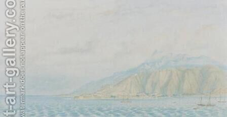 El Puerto de la Guaira by Anton Goering - Reproduction Oil Painting