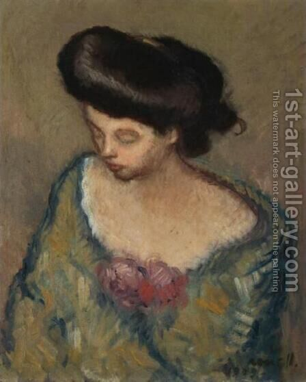 Woman (Mujer) by Isidro Nonell - Reproduction Oil Painting