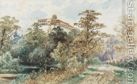 Castillo de Chapultepec by August Lohr - Reproduction Oil Painting
