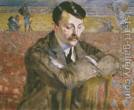 Portrait of a Man I by Jacek Malczewski - Reproduction Oil Painting