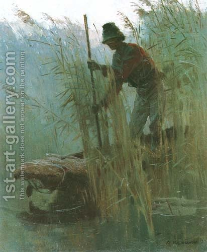 Fisherman by Apoloniusz Kedzierski - Reproduction Oil Painting