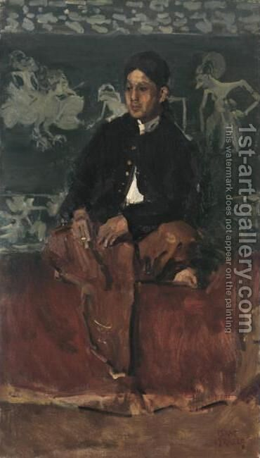 Portrait of a Nobleman by Isaac Lazarus Israels - Reproduction Oil Painting