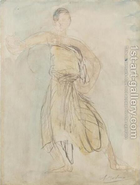 Danseuse Cambodgienne by Auguste Rodin - Reproduction Oil Painting