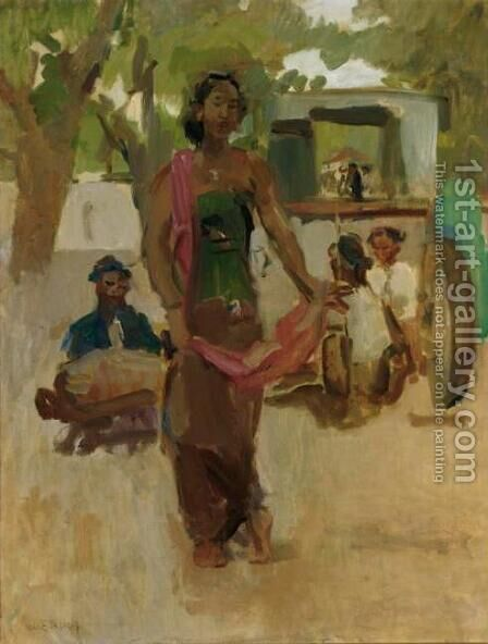 Javanese Dancer, Indonesia by Isaac Lazarus Israels - Reproduction Oil Painting