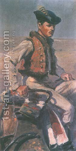 Coachman from the Staff of General Bem by Jan Styka - Reproduction Oil Painting