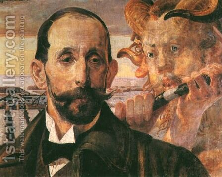 One Song by Jacek Malczewski - Reproduction Oil Painting
