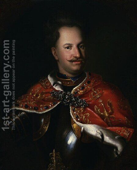 Portrait of King Stanislaus Leszczynski by - Unknown Painter - Reproduction Oil Painting