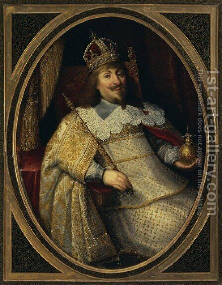Coronation Portrait of Ladislaus IV Vasa by Bartolomeus Milwitz - Reproduction Oil Painting