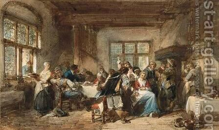In the Tavern by Herman Frederik Carel ten Kate - Reproduction Oil Painting