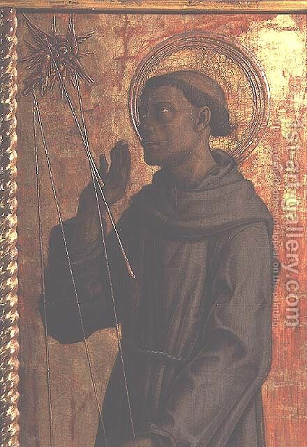 St. Francis, detail from the San Silvestro polyptych, 1468 by Carlo Crivelli - Reproduction Oil Painting