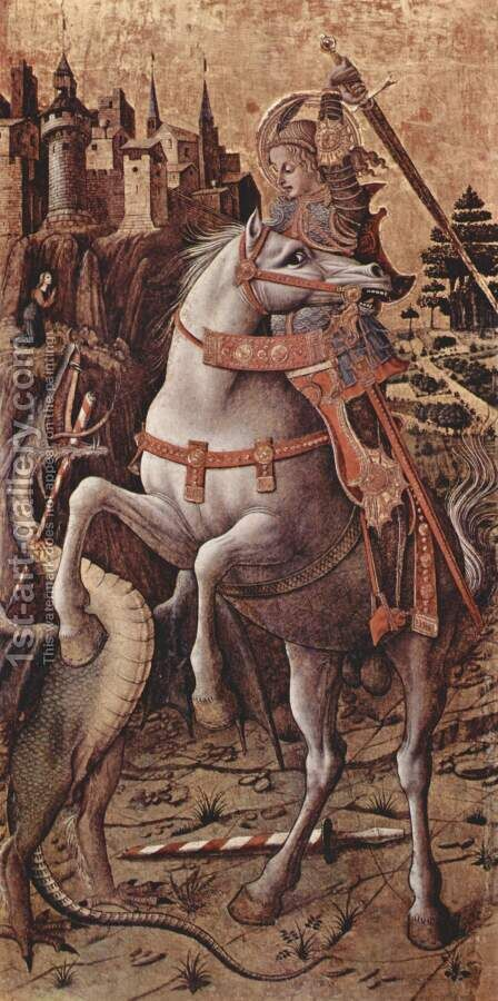 St. George and the Dragon, 1470 by Carlo Crivelli - Reproduction Oil Painting