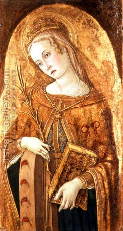 St. Catherine of Alexandria by Carlo Crivelli - Reproduction Oil Painting