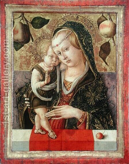 Virgin and Child, c.1485 by Carlo Crivelli - Reproduction Oil Painting