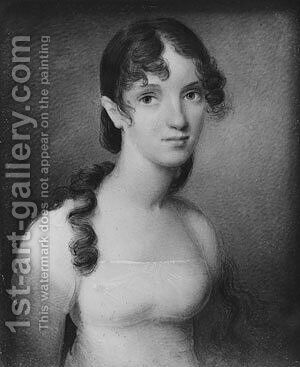 Matilda Ridley (Mrs. Robert Watts) by Anson Dickinson - Reproduction Oil Painting