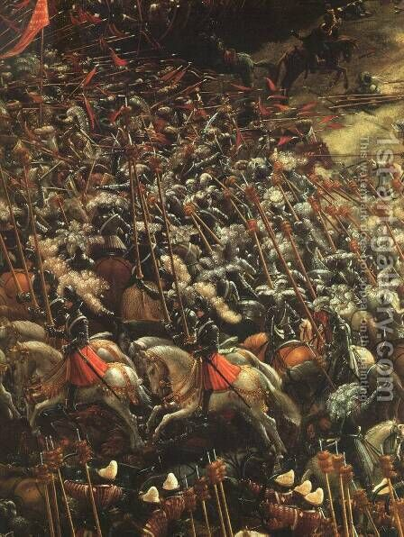 The Battle Of Alexander (detail) by Denys Van Alsloot - Reproduction Oil Painting