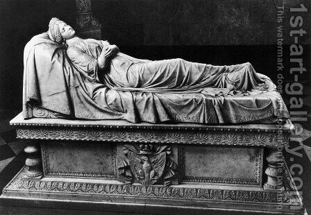 Tomb of Queen Louise of Prussia by Christian Daniel Rauch - Reproduction Oil Painting