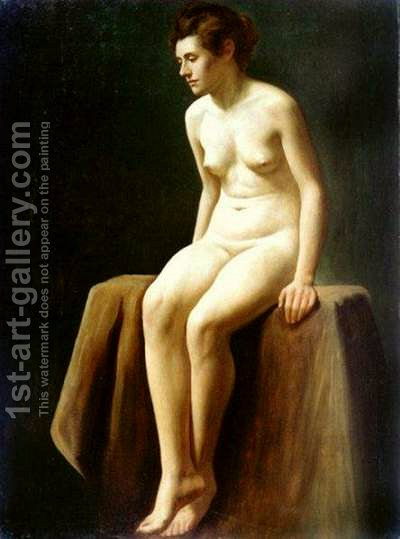 Female Nude I by Charles H. Freeth - Reproduction Oil Painting