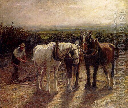 After Harvest by Harry Fidler - Reproduction Oil Painting