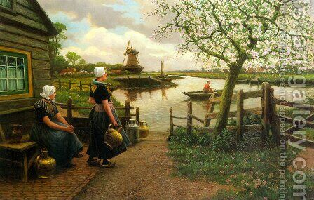 Spring by Henri Houben - Reproduction Oil Painting
