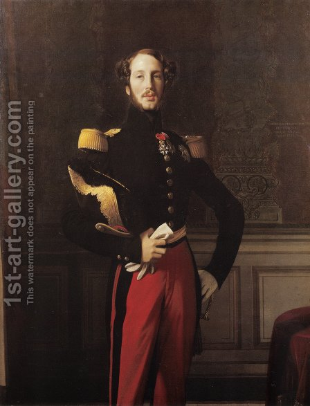 Ferdinand-Philippe-Louis-Charles-Henri, Duc d'Orleans I by Jean Auguste Dominique Ingres - Reproduction Oil Painting