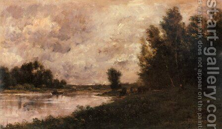 Bords De L'oise I by Charles-Francois Daubigny - Reproduction Oil Painting