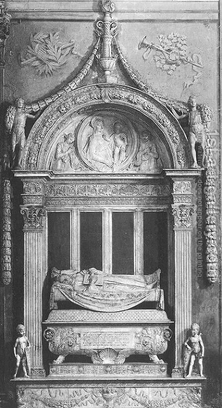 Tomb of Carlo Marsuppini by Desiderio da Settignano - Reproduction Oil Painting