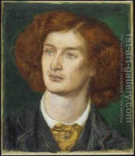 Algernon Charles Swinburne by Dante Gabriel Rossetti - Reproduction Oil Painting