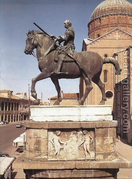 Equestrian Statue of Gattamelata I by Donatello - Reproduction Oil Painting