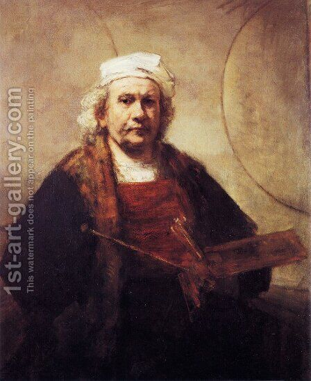 Self-Portrait I 2 by Harmenszoon van Rijn Rembrandt - Reproduction Oil Painting