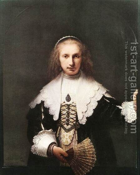 Agatha Bas by Harmenszoon van Rijn Rembrandt - Reproduction Oil Painting